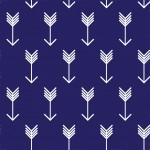 Fehér nyilak kék alapon design egyedi szublimált textil méteráruhoz