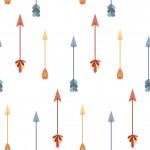 Retro színes nyilak design egyedi szublimált textil méteráruhoz