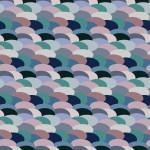 Színes pikkelyek design egyedi szublimált textil méteráruhoz