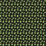 Zöld levelek fekete alapon design egyedi szublimált textil méteráruhoz