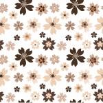 Barna virágok design egyedi szublimált textil méteráruhoz