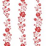 Kalocsai hímzés design egyedi szublimált textil méteráruhoz