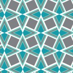 Geometrikus türkiz szürke design egyedi szublimált textil méteráruhoz