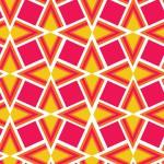 Geometrikus piros sárga design egyedi szublimált textil méteráruhoz
