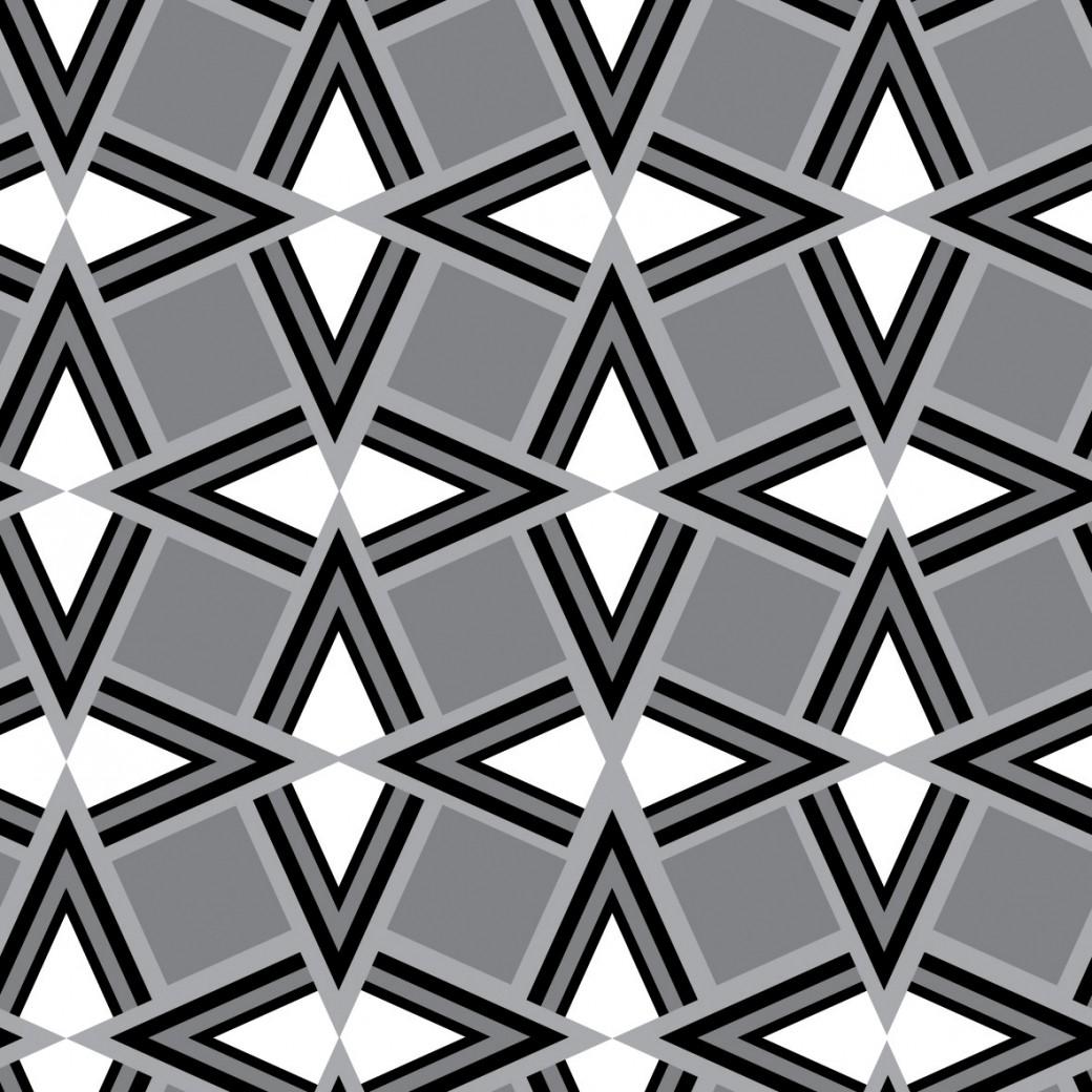 Geometrikus fekete fehér szürke design egyedi szublimált textil méteráruhoz