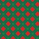 Geometrikus négyzet zöld piros design egyedi szublimált textil méteráruhoz