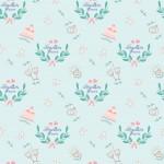 Esküvői minta világoszöld alapon design egyedi szublimált textil méteráruhoz