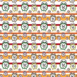Vekker Úr csíkos design egyedi szublimált textil méteráruhoz