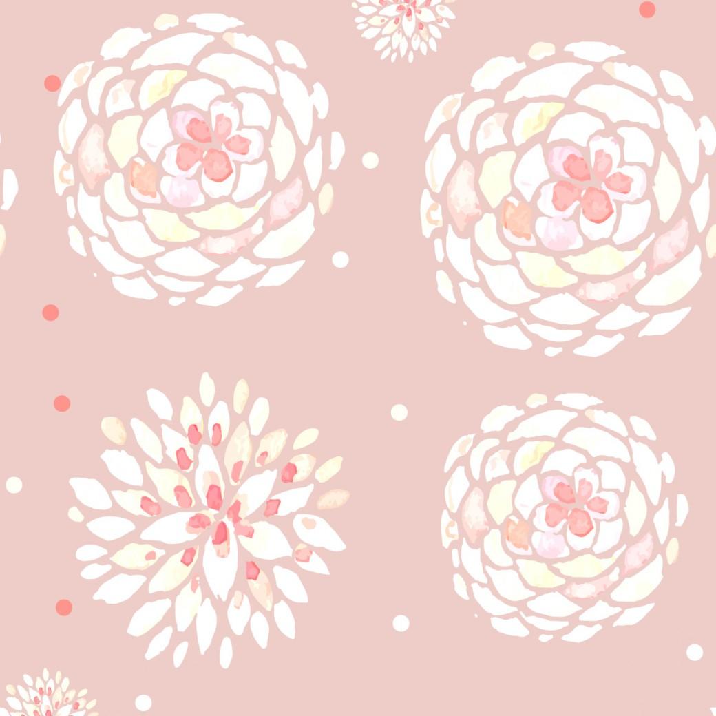 Pasztell virágok design egyedi szublimált textil méteráruhoz