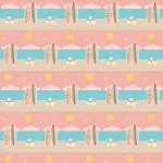 Pasztell tengerpart design egyedi szublimált textil méteráruhoz