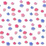 Virágfejek design egyedi szublimált textil méteráruhoz
