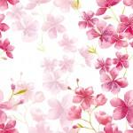Cseresznyevirág design egyedi szublimált textil méteráruhoz
