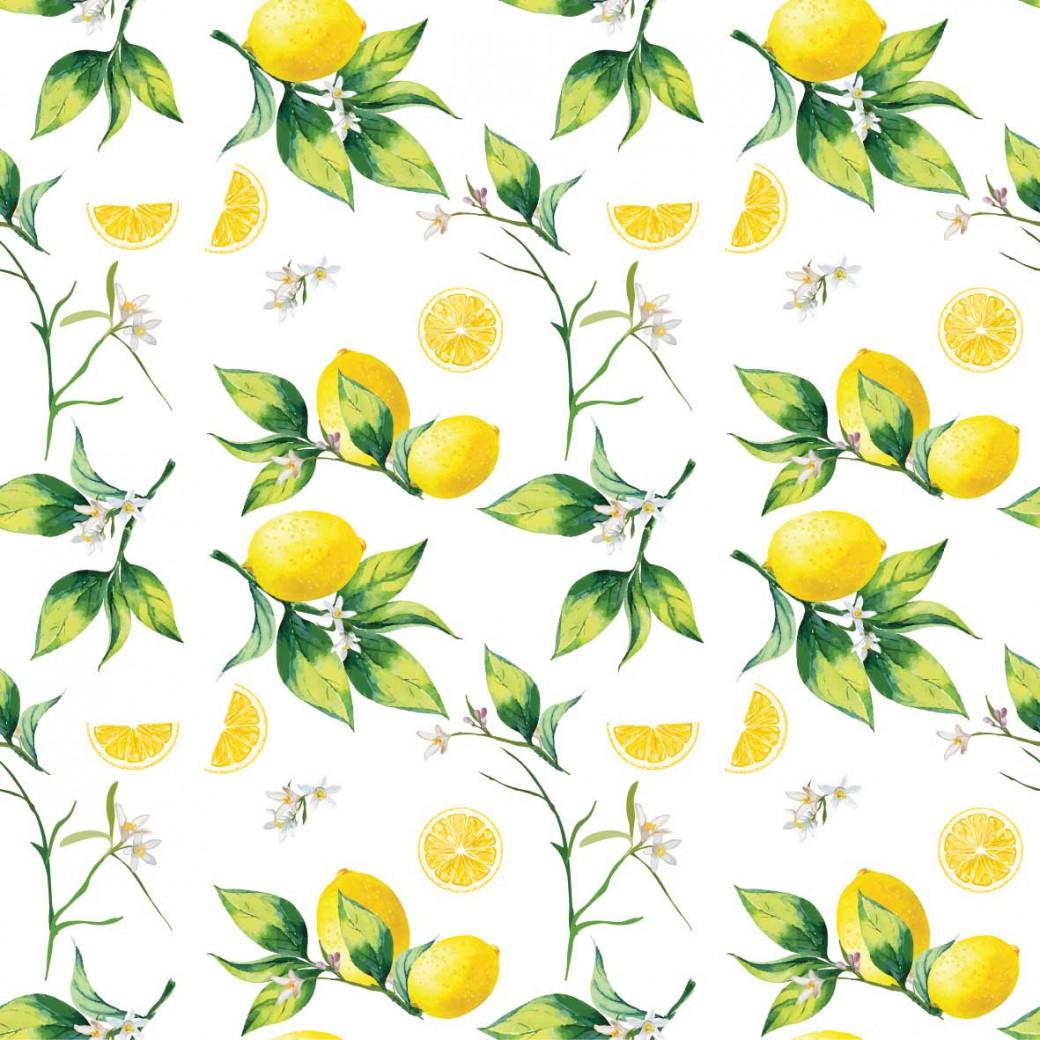 Leveles citrom design egyedi szublimált textil méteráruhoz