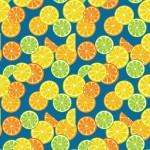 Vegyes citromszeletek kéken design egyedi szublimált textil méteráruhoz