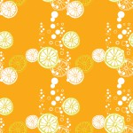 Bubis citrom narancson design egyedi szublimált textil méteráruhoz
