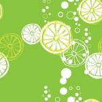 Bubis citrom zöldön design egyedi szublimált textil méteráruhoz