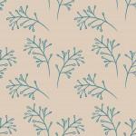 Faágak bézs türkiz design egyedi szublimált textil méteráruhoz