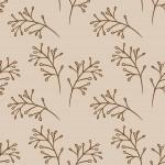 Faágak bézs barna design egyedi szublimált textil méteráruhoz