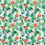 Trópus design egyedi szublimált textil méteráruhoz