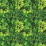 Állati foltok zöldben design egyedi szublimált textil méteráruhoz