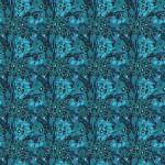 Kék állati foltok design egyedi szublimált textil méteráruhoz