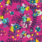 Apró virág minta design egyedi szublimált textil méteráruhoz