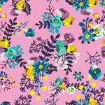 Apró virág minta rózsaszínen design egyedi szublimált textil méteráruhoz