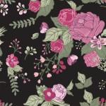 Rózsák feketén design egyedi szublimált textil méteráruhoz