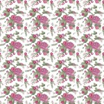Rózsák fehéren design egyedi szublimált textil méteráruhoz