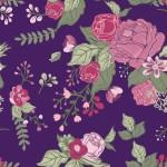 Rózsák lilán design egyedi szublimált textil méteráruhoz