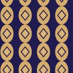 Art deco kék design egyedi szublimált textil méteráruhoz
