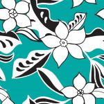Türkizen rajzolt virág design egyedi szublimált textil méteráruhoz