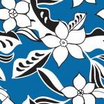 Rajzolt virág kéken design egyedi szublimált textil méteráruhoz