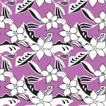 Rajzolt virágok lilán design egyedi szublimált textil méteráruhoz