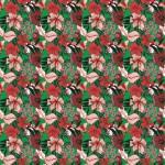 Pillangós virág zöldben design egyedi szublimált textil méteráruhoz