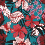 Pillangós virág kékben design egyedi szublimált textil méteráruhoz