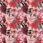 Pillangós virág rózsaszínen design egyedi szublimált textil méteráruhoz