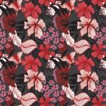 Pillangós virág feketén design egyedi szublimált textil méteráruhoz