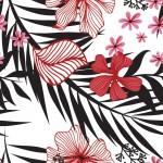 Rajzolt orchidea design egyedi szublimált textil méteráruhoz