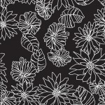Rajzolt krizantém design egyedi szublimált textil méteráruhoz