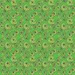 Zöld krizantém design egyedi szublimált textil méteráruhoz