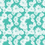 Krizantém türkizen design egyedi szublimált textil méteráruhoz