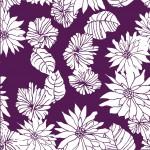 Krizantém lilán design egyedi szublimált textil méteráruhoz