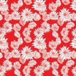 Krizantém pirosban design egyedi szublimált textil méteráruhoz