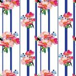 Csíkos tearózsa design egyedi szublimált textil méteráruhoz