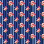 Sötét csíkos tearózsa design egyedi szublimált textil méteráruhoz