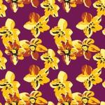 Sárga virágszőnyeg design egyedi szublimált textil méteráruhoz