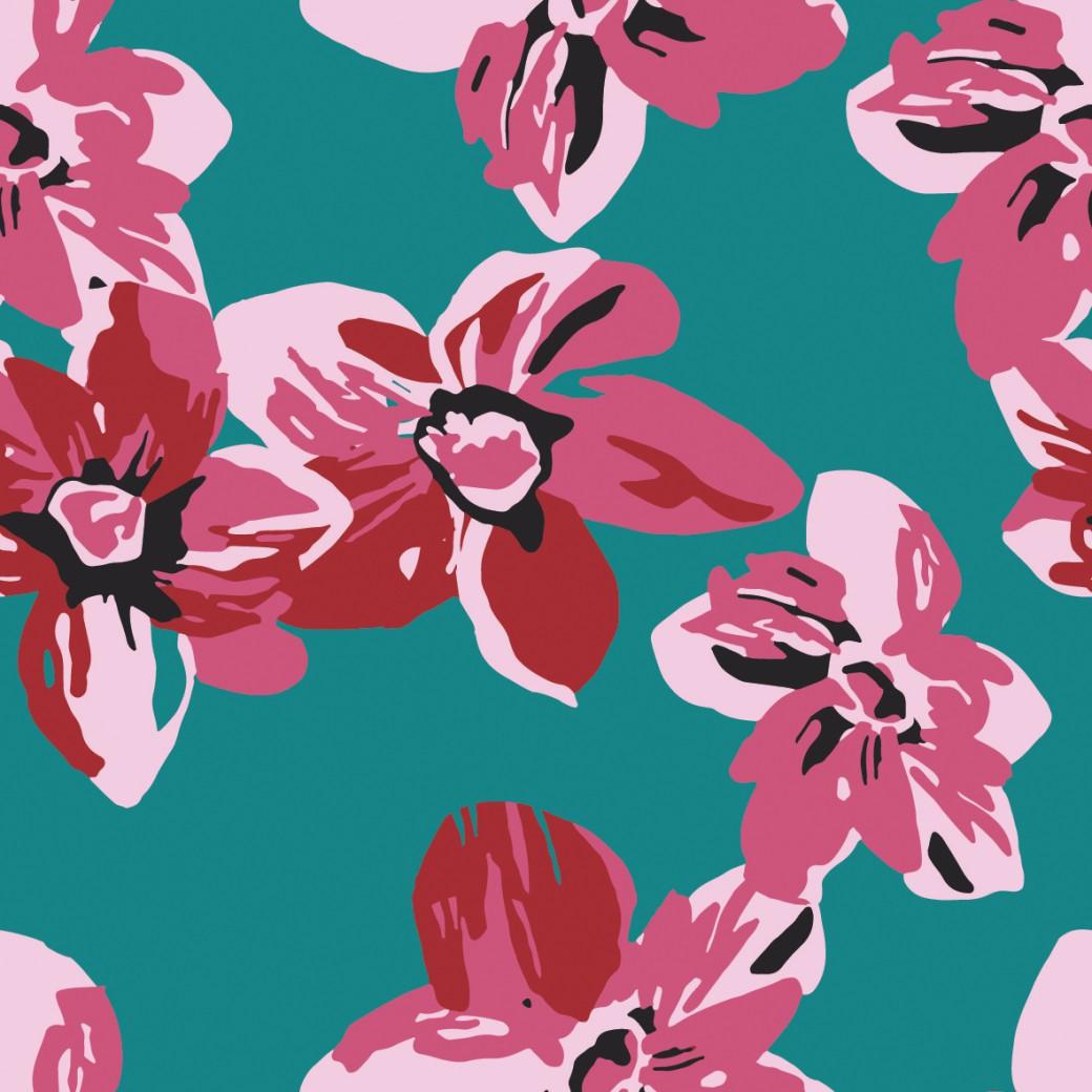 Cseresznyevirágzás design egyedi szublimált textil méteráruhoz