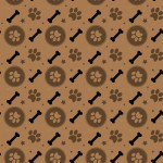 Középbarna tappancs design egyedi szublimált textil méteráruhoz