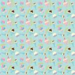 Fagylalt design egyedi szublimált textil méteráruhoz